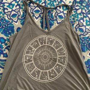 Strappy Tank Top with Stars